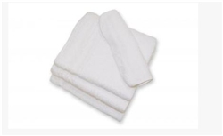 irregular white washcloths