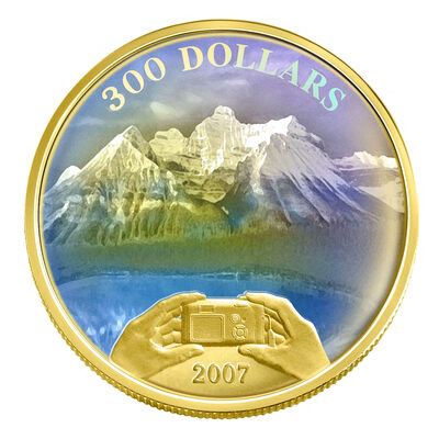$300 2007 Gold Coin - Panoramic Photography
