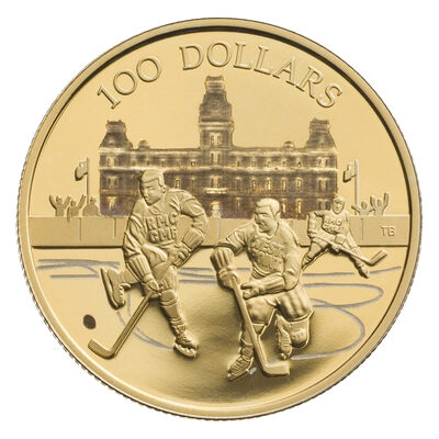 $100 2006 Gold Coin - 75th Game of the World's Longest Hockey Series
