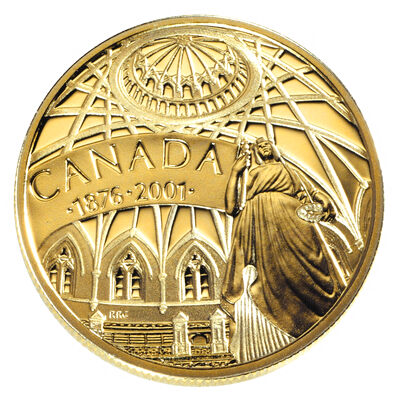 $100 2001 Gold Coin - 125th Anniversary of the Library of Parliament