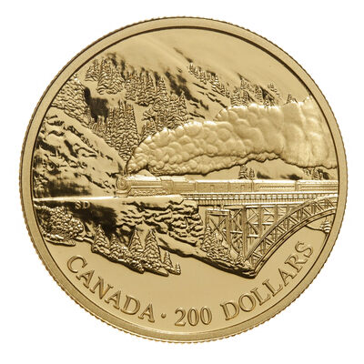 $200 1996 Gold Coin - Transcontinental Landscape