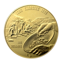 $100 1996 Gold Coin - 100th Anniversary of Klondike Gold Rush