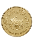 $100 1993 Gold Coin - The Horseless Carriage