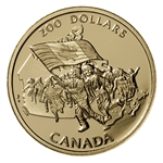 $200 1990 Gold Coin - Canada's Flag Silver Jubilee