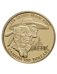 $100 1989 Gold Coin - Sainte-Marie among the Hurons