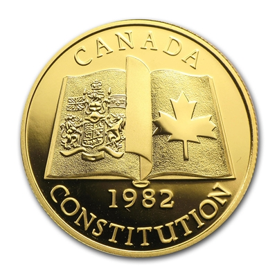 $100 1982 Gold Coin - Patriation of the Canadian Constitution