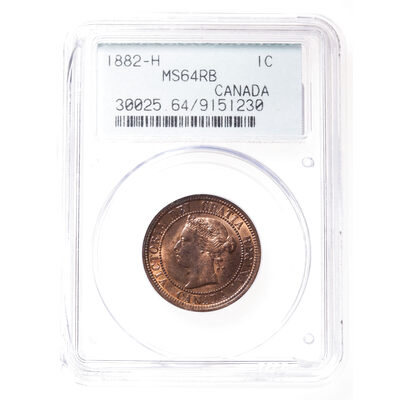 1 cent 1882H Red and Brown Obv 1 PCGS MS-64