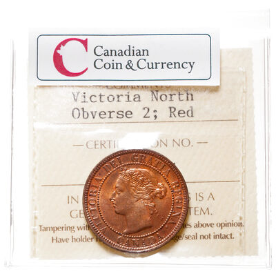 1 cent 1886  ICCS Red Obv 2 MS-65