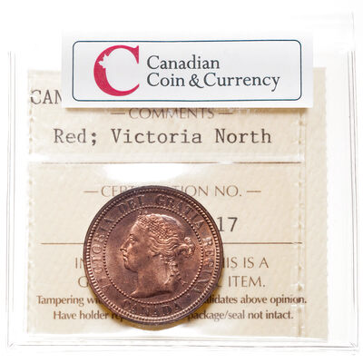 1 cent 1887 Red ICCS MS-65