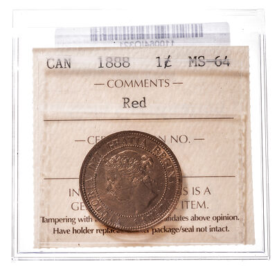 1 cent 1888  ICCS MS-64