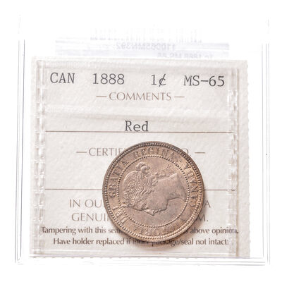 1 cent 1888 Red ICCS MS-65