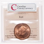 1 cent 1890H Red ICCS MS-65