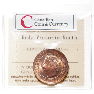 1 cent 1895 Blazing Red ICCS MS-66