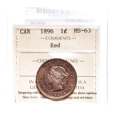 1 cent 1896 Red ICCS MS-63