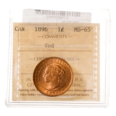 1 cent 1896  ICCS MS-65