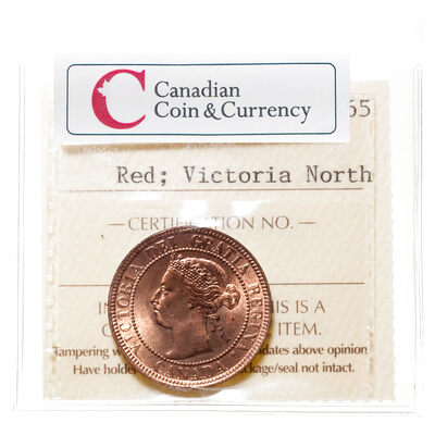1 cent 1897 Red ICCS MS-65
