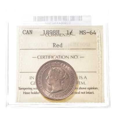 1 cent 1898H  ICCS MS-64