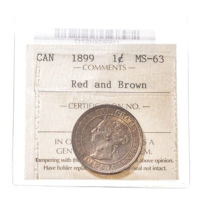 1 cent 1899  ICCS MS-63