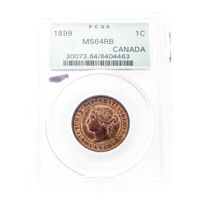 1 cent 1899 Red and Brown PCGS MS-64