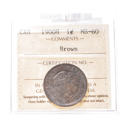 1 cent 1900H  ICCS MS-60