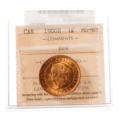 1 cent 1900H  ICCS MS-65