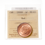 1 cent 1900H Premium Red ICCS MS-65