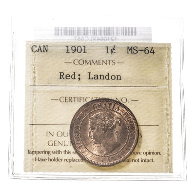 1 cent 1901 Landon Collection ICCS MS-64