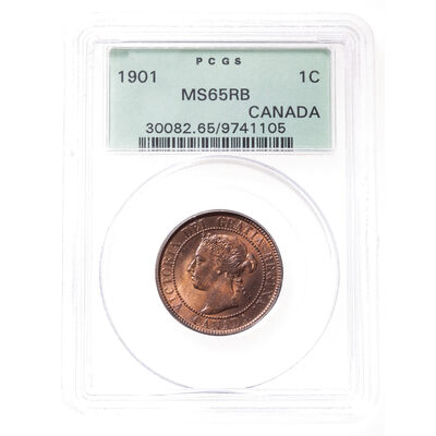 1 cent 1901 Red and Brown PCGS MS-65
