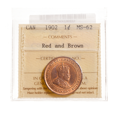 1 cent 1902  ICCS MS-62