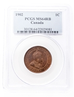 1 cent 1902 Red and Brown PCGS MS-64