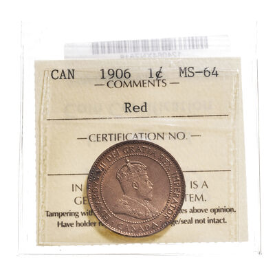 1 cent 1906  ICCS MS-64