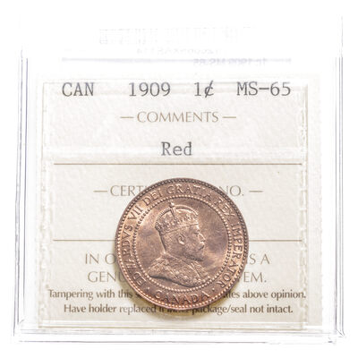1 cent 1909  ICCS MS-65