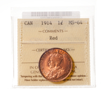 1 cent 1914 Red ICCS MS-64