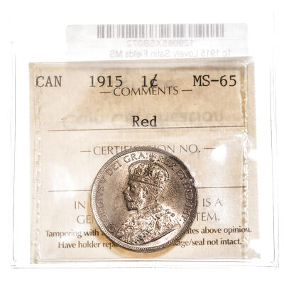 1 cent 1915 Red ICCS MS-65