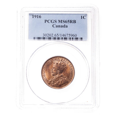 1 cent 1916 Red and Brown PCGS MS-65