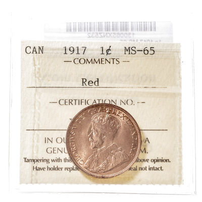 1 cent 1917  ICCS MS-65