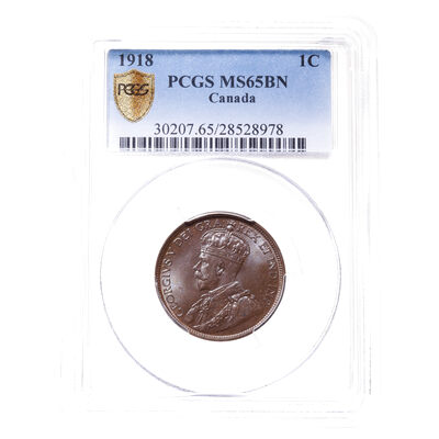 1 cent 1918 Brown PCGS MS-65