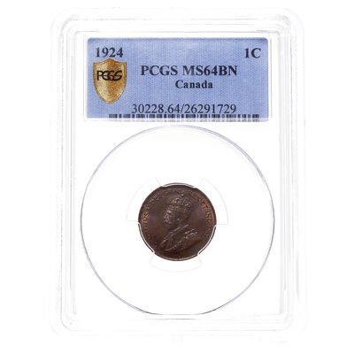 1 cent 1924 Brown PCGS MS-64