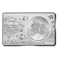 2018 $5 30th Anniversary of Silver Maple Leaf  Bar Set