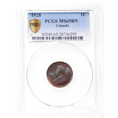 1 cent 1928 Brown PCGS MS-65