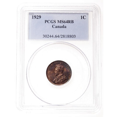 1 cent 1929 Red and Brown PCGS MS-64