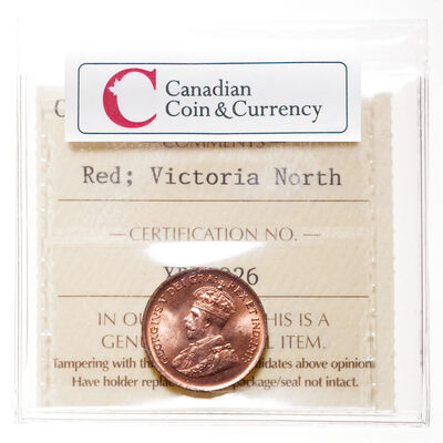 1 cent 1929 Blazing red ICCS MS-65