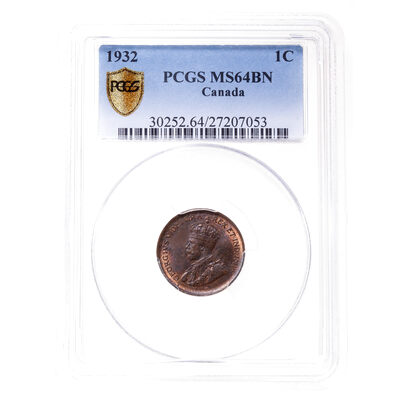 1 cent 1932 Brown PCGS MS-64