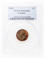 1 cent 1936 Red and Brown PCGS MS-64