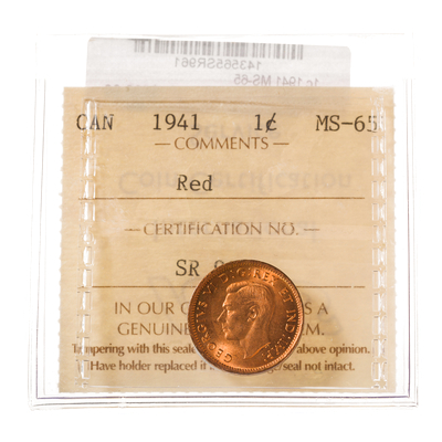 1 cent 1941  ICCS MS-65