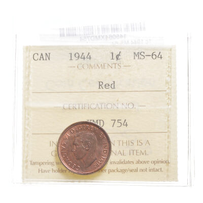 1 cent 1944 Red ICCS MS-64