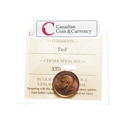 1 cent 1944 A premium example of a Full Red Coin ICCS MS-64