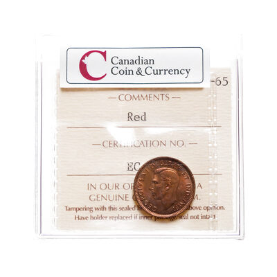 1 cent 1945 Red ICCS MS-65