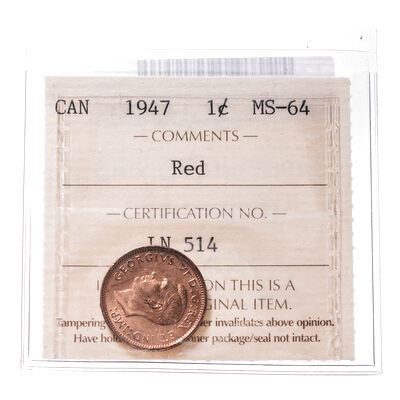1 cent 1947 Blt 7 ICCS MS-64