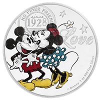 2017 $2 Disney True Love Forever - Pure Silver Coin